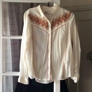 Retro Long sleeved cotton shirt